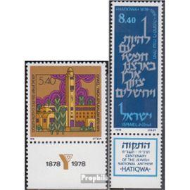 israël 763,764 avec Tab (complète.Edition.) neuf avec gomme originale 1978 ymca, hymne national Rotary/Lions/franc-maçon/Pathfinder