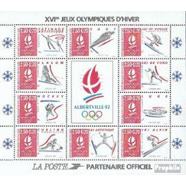France Bloc 12 (complète.Edition.) neuf avec gomme originale 1992 jeux olympiques d