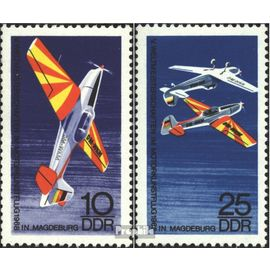 DDR 1391-1392 (complète.édition) oblitéré 1968 moteur acrobatique Aviation