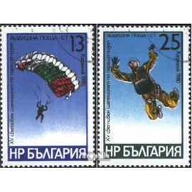 Bulgarie 2914-2915 (complète.Edition.) oblitéré 1980 WM dans parachutisme Aviation