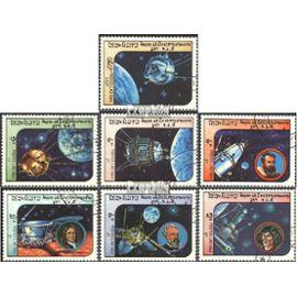 Laos 766-772 (complète.Edition.) oblitéré 1984 Space L¿espace