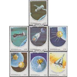 Nicaragua 2497-2503 (complète.Edition.) oblitéré 1984 Anniversaires le mondiale de l