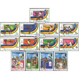 Guinée 896A-908A (complète.Edition.) oblitéré 1982 jeux olympiques `80, Moscou jeux olympiques
