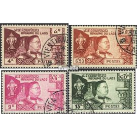 Laos 89-92 (complète.Edition.) oblitéré 1959 timbres