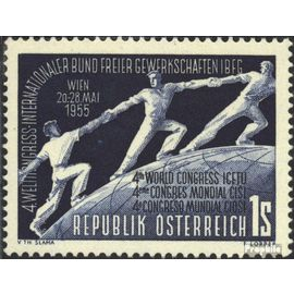 Autriche 1018 (complète.Edition.) avec charnière 1955 cisl