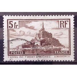 Mont Saint-Michel - Type II (Superbe n° 260) Obl - France Année 1929 - N23432