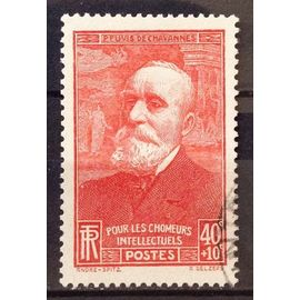 Chômeurs Intellectuels 1939 - Puvis de Chavannes - 40c+10c Rouge (Très Joli n° 436) Obl - France Année 1939 - N23485