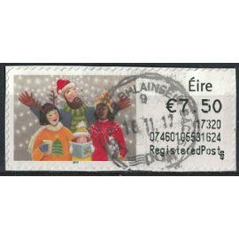 Irlande vignette Oblitérée Chants de Noël SU