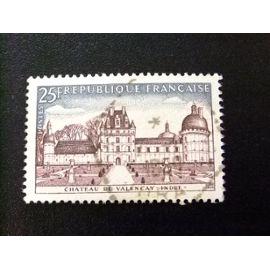 FRANCIA 1957 Touristique Château de Valençay Yvert 1128 FU