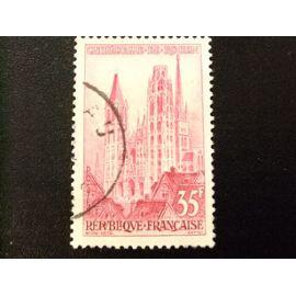FRANCIA 1957 Touristique Catédrale de Rouen Yvert 1129 FU