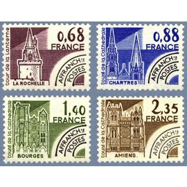France 1979, Très Belle Série Complète Préoblitérée sites remarquables Neuve** Luxe, Yvert 162 la rochelle, 163 chartres, 164 bourges et 165 amiens.