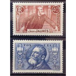 Série Jean Jaurès - N° 318-319 Neufs* - Cote 19,00€ - France Année 1936 - N23559