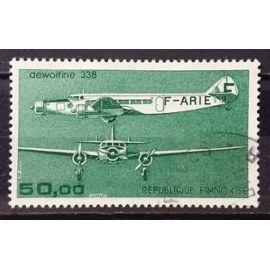 Trimoteur Dewoitine 338 vert 50,00 (Superbe Aérienne n° 60) Obl - Cote 6,00€ - France Année 1987 - N24174