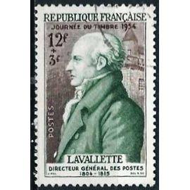 france 1954, bel exemplaire yvert 969, journée du timbre, la valette, directeur général des postes.