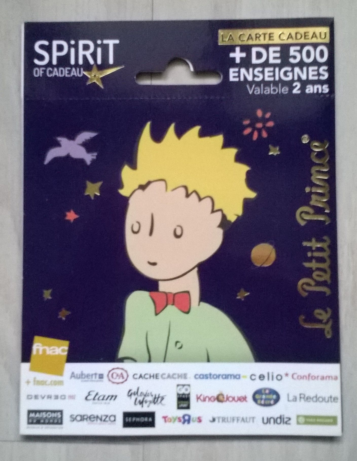 Le Petit Prince Spirit Of Carte Cadeau Fnac Support Neuf Rakuten