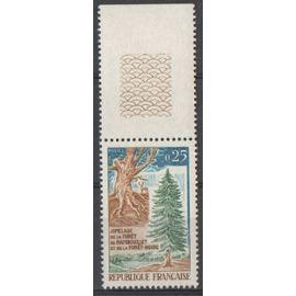 Timbre France 1968 Yvert et Tellier n°1561 Jumelage de la Forêt de Rambouillet et de la Forêt Noire Bord de Feuille Neuf** Gomme intacte