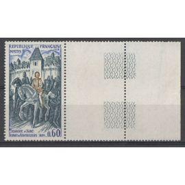 Timbre France 1968 Yvert et Tellier n°1579 Jeanne d
