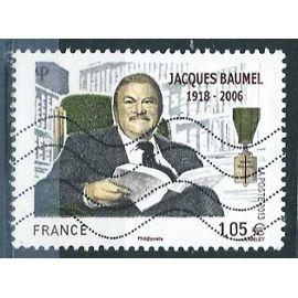 france 2013, bel exemplaire yvert 4754, jacques baumel, homme politique français, oblitéré, TBE