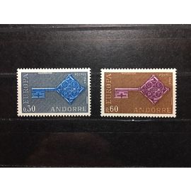 Andorre Français / French Andorra 1968 - EUROPA CEPT - Yvert Nos. 188/189 neufs**/MNH