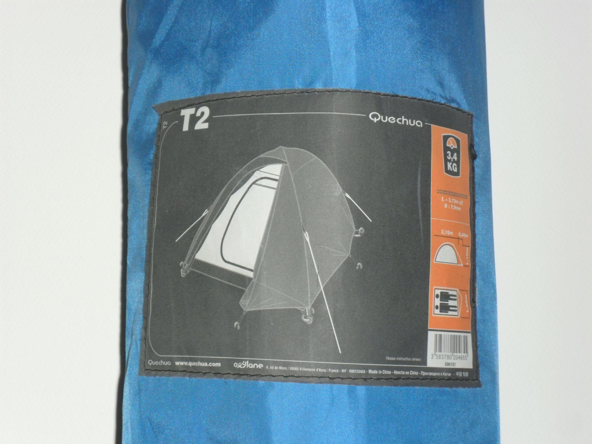 Tente Quechua T2 Randonnee Camping Rakuten