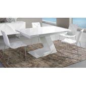 Table De Salle À Manger Extensible Blanc Laqué Design Helga