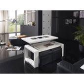 basse ou blanc Table d'occasion sur laque design pas cher SVUzMpGjLq