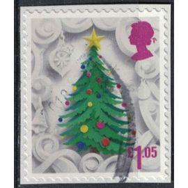 Royaume Uni 2016 Oblitéré Used sur fragment Sapin de Noël SU