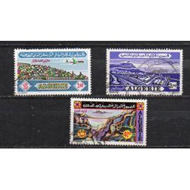 Algérie- Série de 3 timbres oblitérés- Poste aérienne