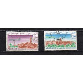 Algérie- Lot de 2 timbres oblitérés- Poste aérienne