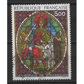 France, timbre-poste oblitéré Y & T n° 2363 cathédrale de Strasbourg, 1985