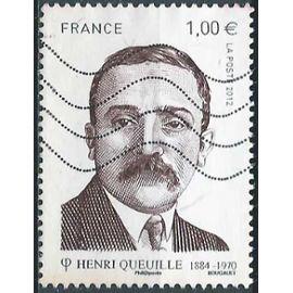 France 2012, Très Bel Exemplaire Yvert 4635, Henri Queuille, Homme Politique Français, Ancien Président Du Conseil, oblitéré, TBE