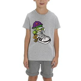 T-shirt - Hip hop - Enfant garçon - Gris