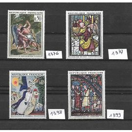 Timbres france 1963 neufs** 1376-1377-1398-1399