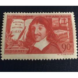 Timbre 1937 Descartes Discours De La Méthode 1637 Neuf Yvert 342