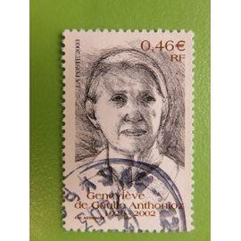 Timbre France YT 3544 - Hommage à Geneviève de Gaulle Anthonioz - Portrait de la résistante - 2003