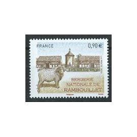"""timbre oblitéré """"Bergerie nationale de Rambouillet"""""""