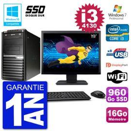 PC Acer Veriton M4630G MT Ecran 19 quot; i3-4130 RAM 16Go SSD 960Go DVD Wifi W7