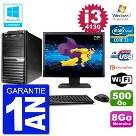 PC Acer Veriton M4630G MT Ecran 22 quot; i3-4130 RAM 8Go Disque 500Go DVD Wifi W7