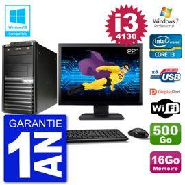 PC Acer Veriton M4630G MT Ecran 22 quot; i3-4130 RAM 16Go Disque 500Go DVD Wifi W7
