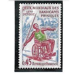 Jeux mondiaux des handicapés physiques - St Etienne 1970 (0,45 frcs)
