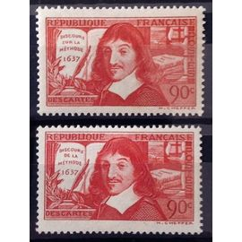 Série Descartes 1937 - N° 341-342 Neufs* - Cote 9,30€ - France Année 1937 - N10209
