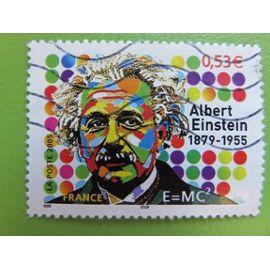 Timbre France YT 3779 - Personnalité - Cinquantenaire mort Albert Einstein - Physicien - Portrait - 2005