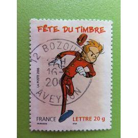 Timbre France YT 3877 - Fête du timbre - Bande dessinée - Spirou - 2006 - Cachet rond Bozouls (12)