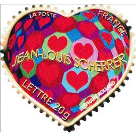 france 2006, très bel exemplaire neuf** luxe yvert 3861 ou 3863, pour la saint valentin, le coeur par jean louis scherrer, timbre validité permanente lettre prioritaire.