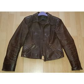 Veste en cuir DAXON 46 (XXL) noir vendu par Brigitte