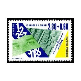 timbre Journée du timbre 1990 Les Services Financiers de La Poste (emission de 1990)