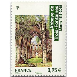 architecture religieuse abbaye des trois fontaines (marne) année 2018 n° 5242 yvert et tellier luxe