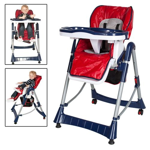 Pour Pliable 5 Rouge Plateau 6 Confort Et Pieds Bleu Bébé Enfant Sécurité Tectake Repose Points Chaise À 3 Ans Haute Grand Mois QCBordtshx