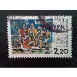 "timbre FRANCE YT 2394 Front populaire 1936-1986 ""Loisirs"" Fernand Léger 1986 ( 16412 )"