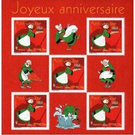 Timbre Bloc Feuillet anniversaire Becassine (emission de 2005).